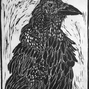 Birds of a Feather - Woodcut by Jackie Wilson