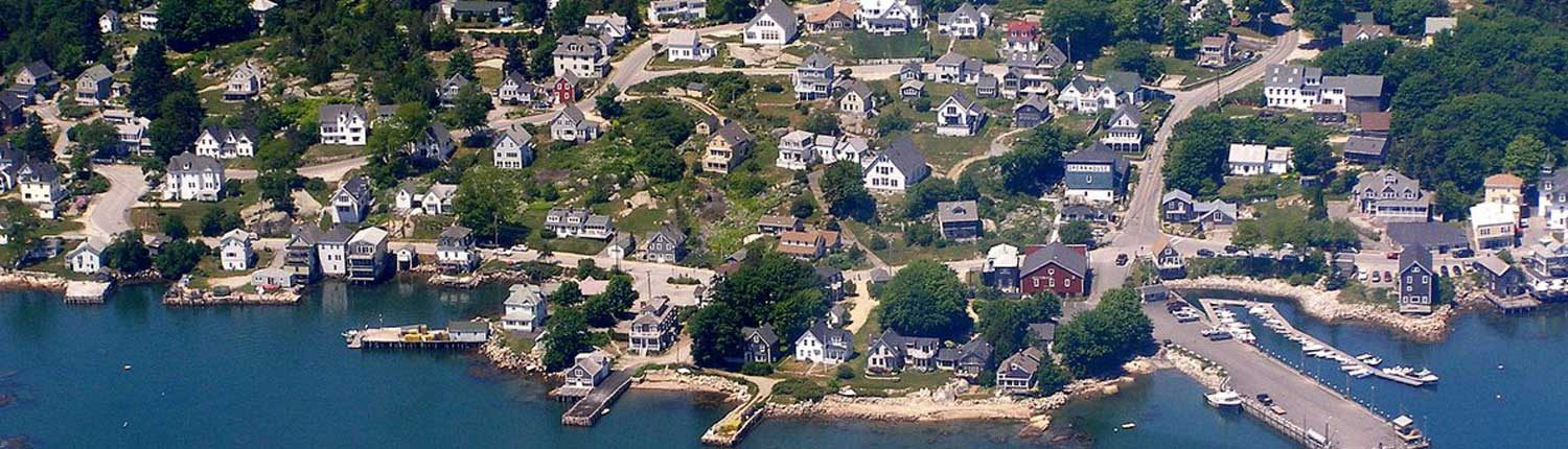 Stonington from the air