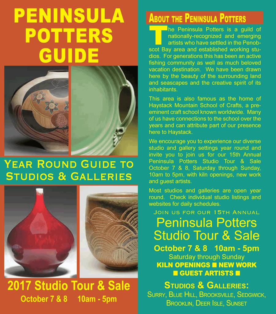 peninsula potters studio tour u0026 sale u2013 deer isle stonington