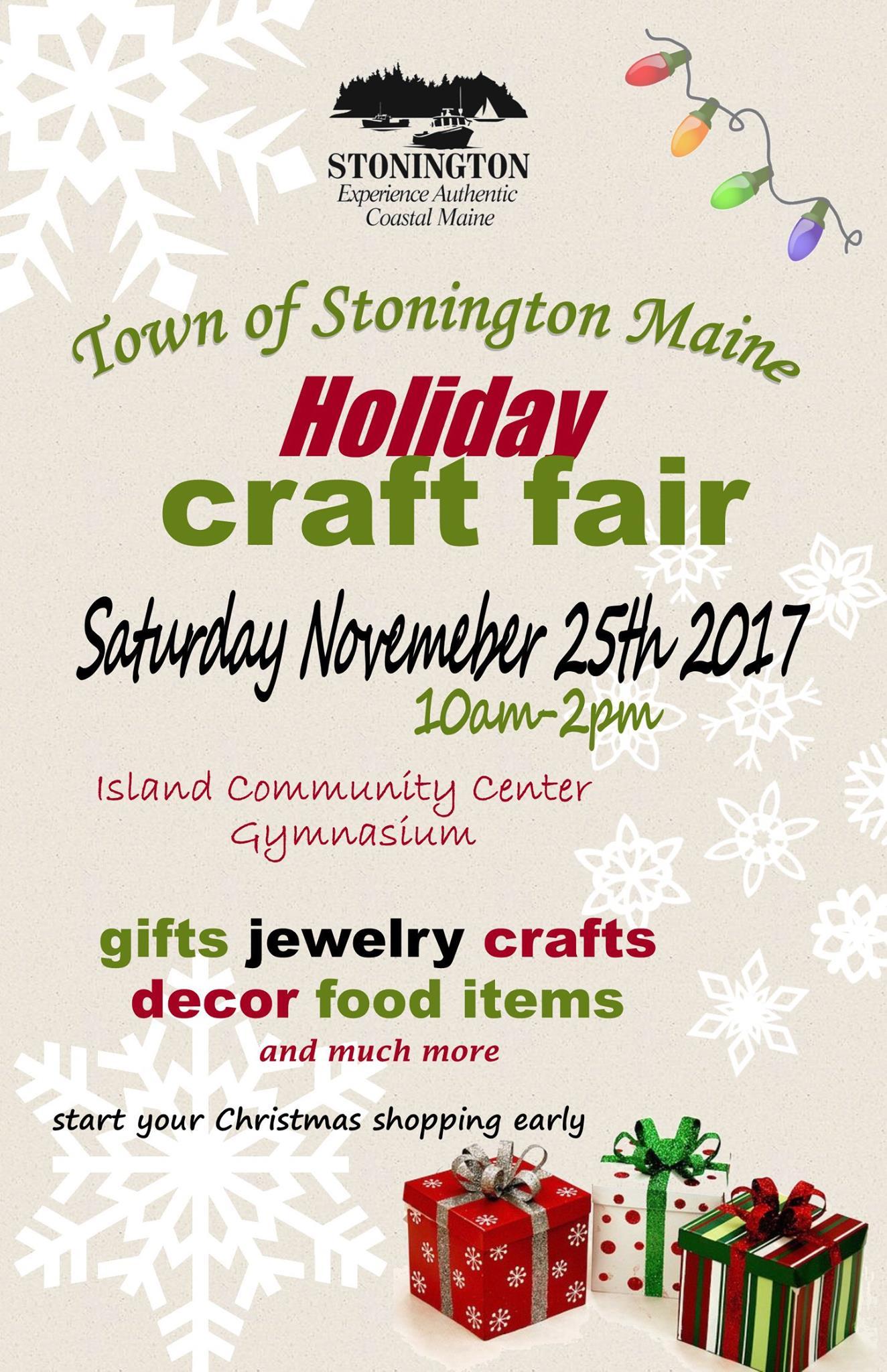 Christmas Craft Show Flyer.Stonington Holiday Craft Fair